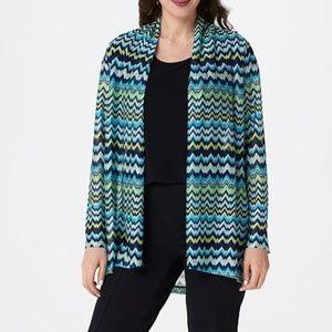 Susan Graver Sweater Knit Open Front Cardigan 1X